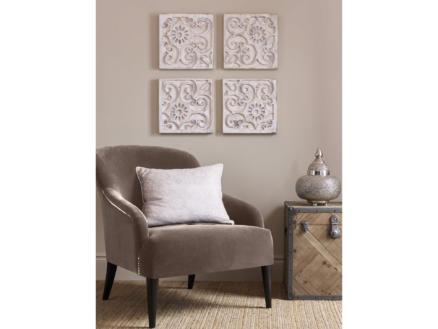 Art for the Home Moroccan houten paneel 33x33 cm