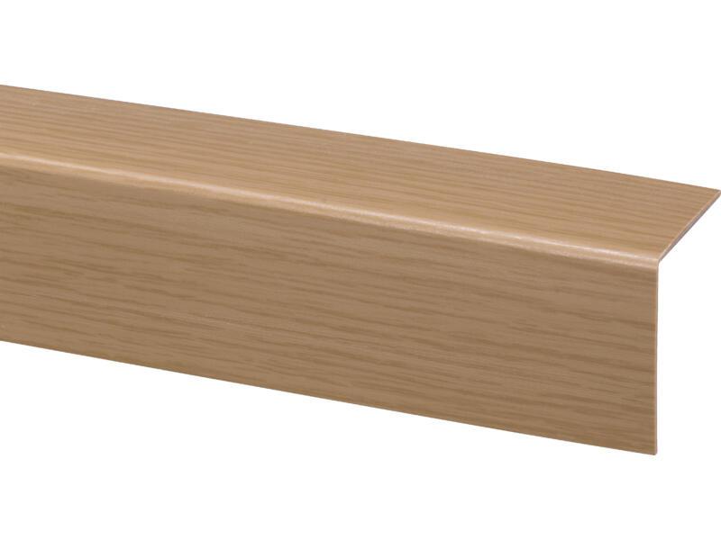 Moulure d'angle 40x40 mm 260cm PVC chêne clair