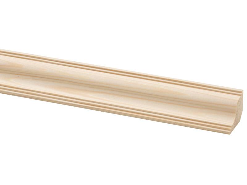 Moulure de plafond 28x36 mm 270cm pin