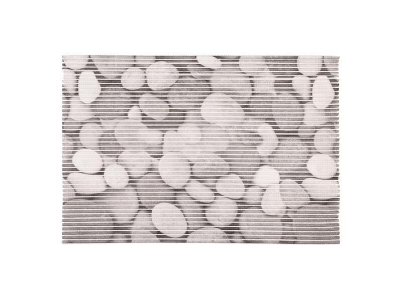 Differnz Multi antislip badmat PVC 65x45 cm steengrijs