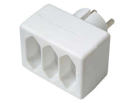 Multiprise 3x 2,5A blanc