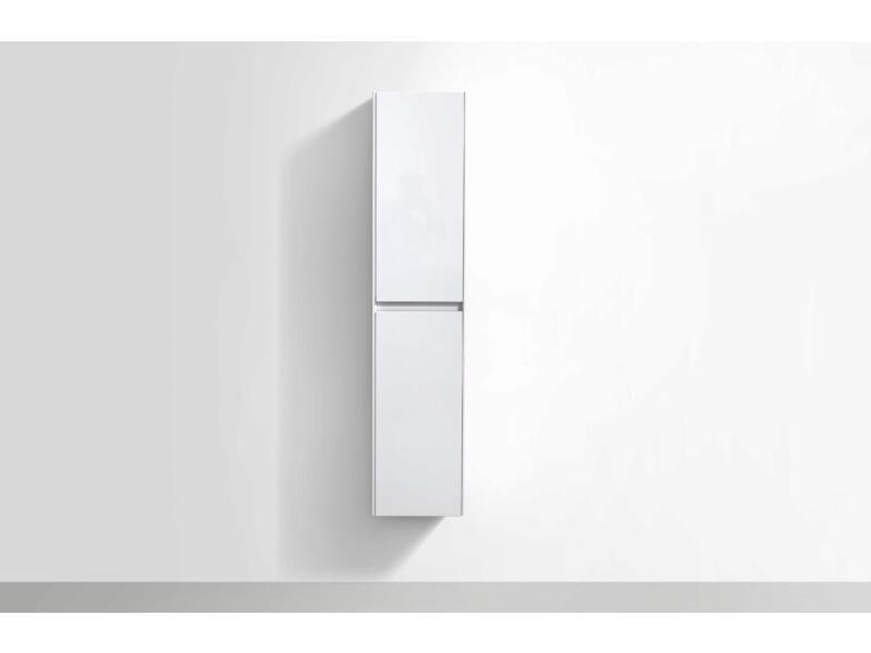 Murcia meuble colonne 35cm 2 portes réversibles blanc brillant