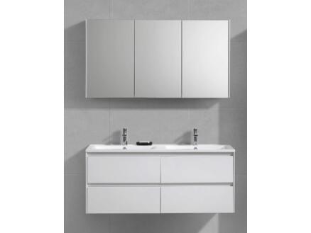 Murcia meuble salle de bains 120cm 2 tiroirs blanc brillant