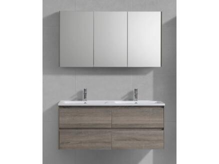 Sanimar Murcia meuble salle de bains 120cm 2 tiroirs chêne clair rustique