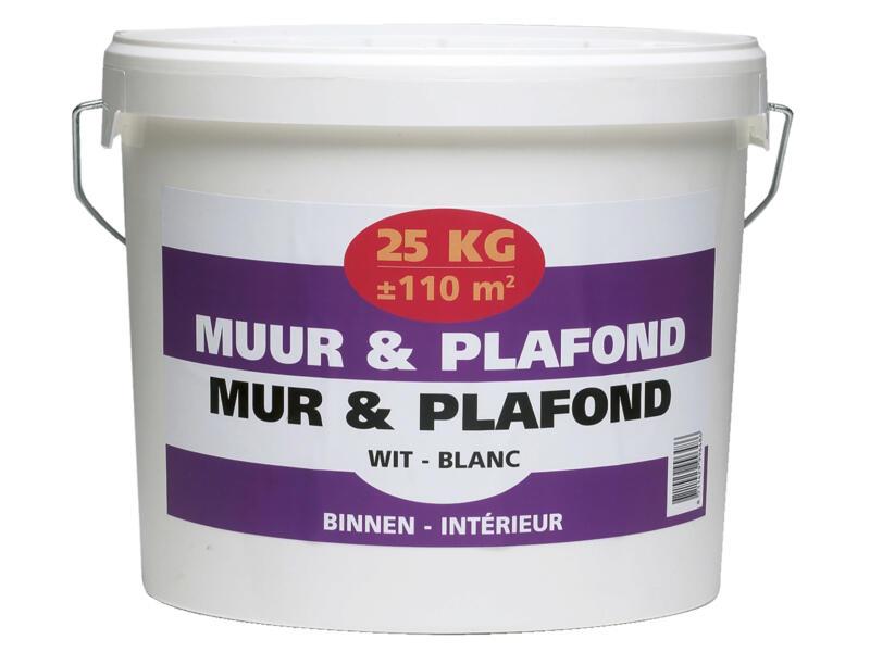 Muur- en plafondverf 25kg wit