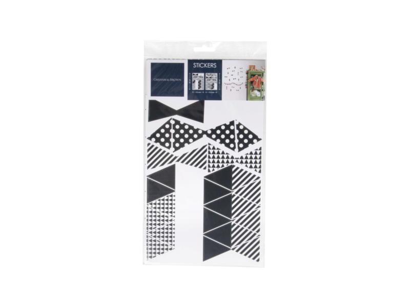 Art for the Home Muurstickers driehoekjes zwart/wit