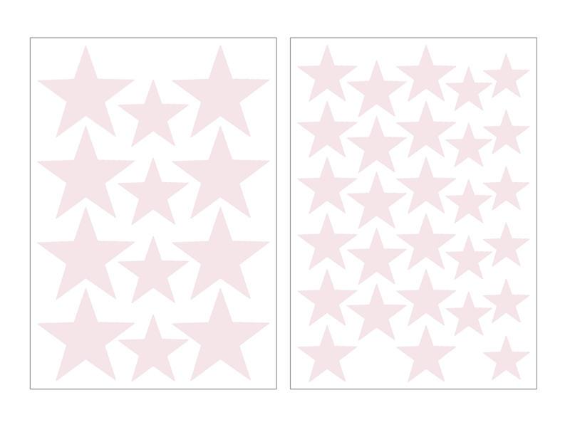Art for the Home Muurstickers sterren lichtroze
