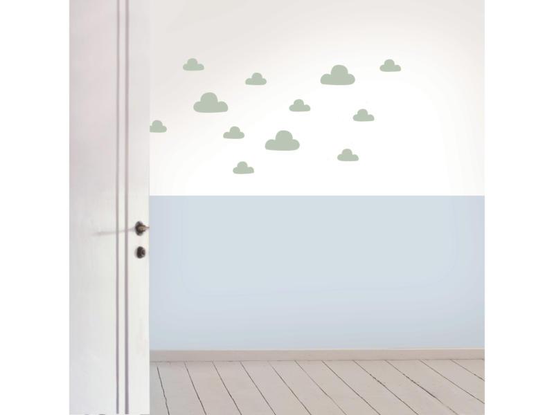 Art for the Home Muurstickers wolken muntgroen