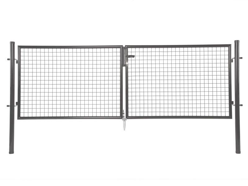Giardino Napoli dubbele poort 300x100 cm antraciet