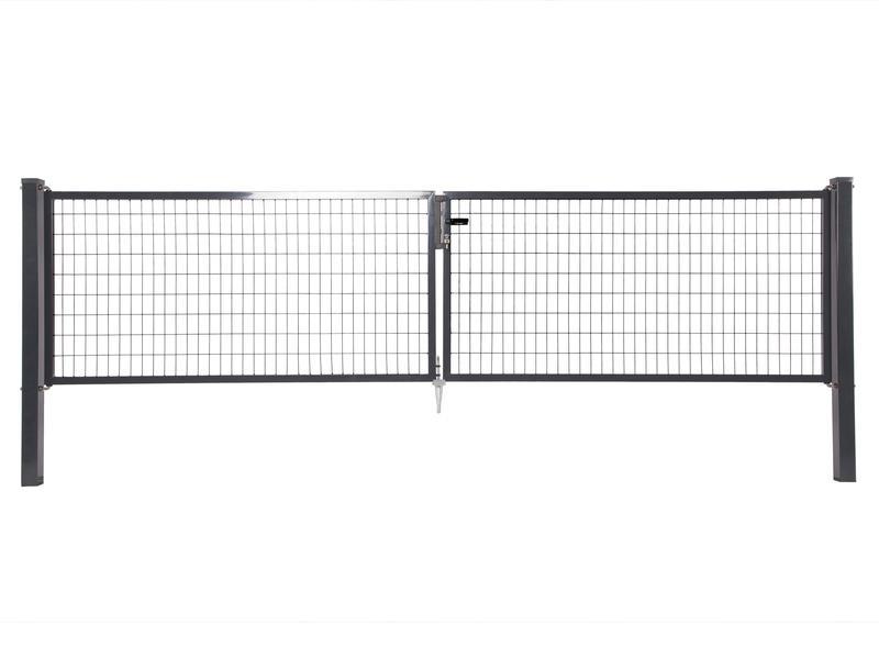 Giardino Napoli dubbele poort 300x120 cm antraciet