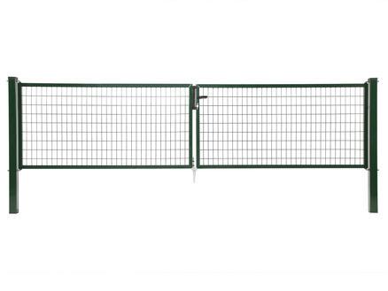 Giardino Napoli dubbele poort 300x120 cm groen