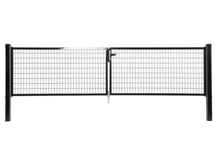 Giardino Napoli dubbele poort 300x120 cm zwart