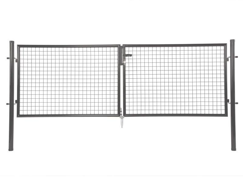 Giardino Napoli dubbele poort 300x170 cm antraciet
