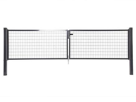 Giardino Napoli dubbele poort 400x100 cm antraciet
