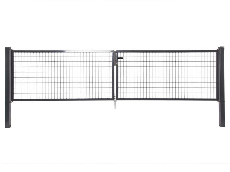 Giardino Napoli dubbele poort 400x120 cm antraciet