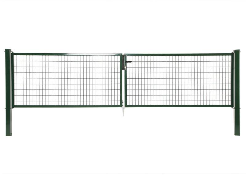 Giardino Napoli dubbele poort 400x120 cm groen
