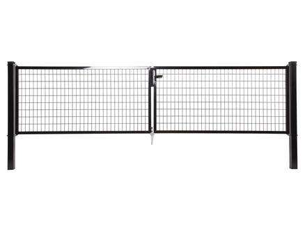 Giardino Napoli dubbele poort 400x120 cm zwart