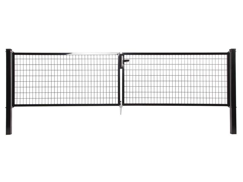 Giardino Napoli dubbele poort 400x150 cm zwart