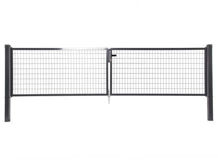 Giardino Napoli dubbele poort 400x200 cm antraciet