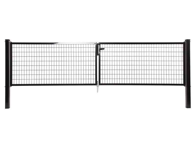 Giardino Napoli dubbele poort 400x200 cm zwart