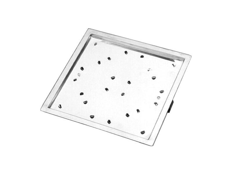 Saninstal Nazichtraam badkuip 30x30 cm chroom