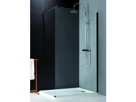 Lafiness New Free douchewand 120x200 cm vrijstaand helder glas zwart