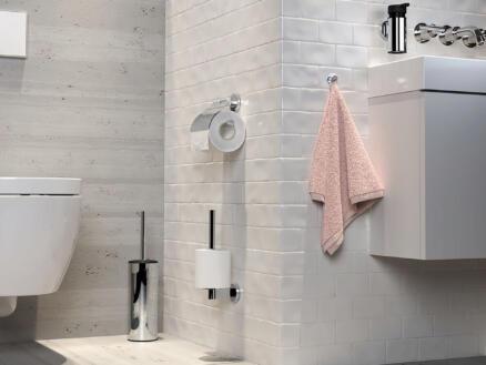 Tiger Noon WC-borstel met houder vrijstaand chroom