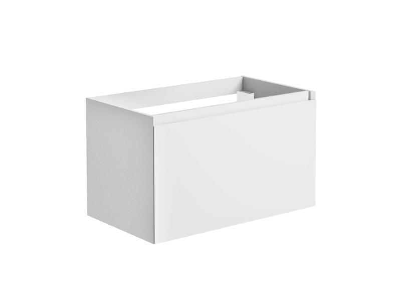 Allibert Nordik meuble lavabo 80cm tiroir à l'anglaise blanc mat