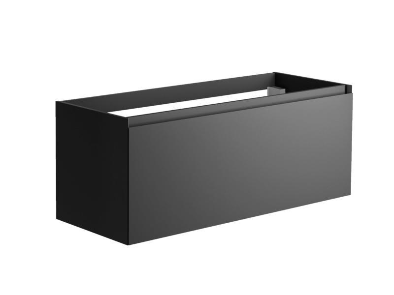 Allibert Nordik wastafelkast 120cm binnenlade mat zwart