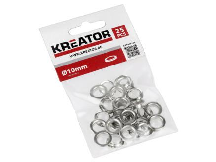 Kreator Oeillet 10mm aluminium 25 pièces