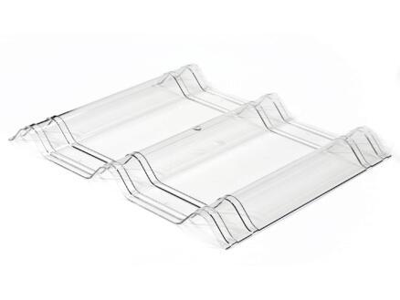Onduline Onduvilla panneau de toit 50x40 cm 2,5mm clear tile