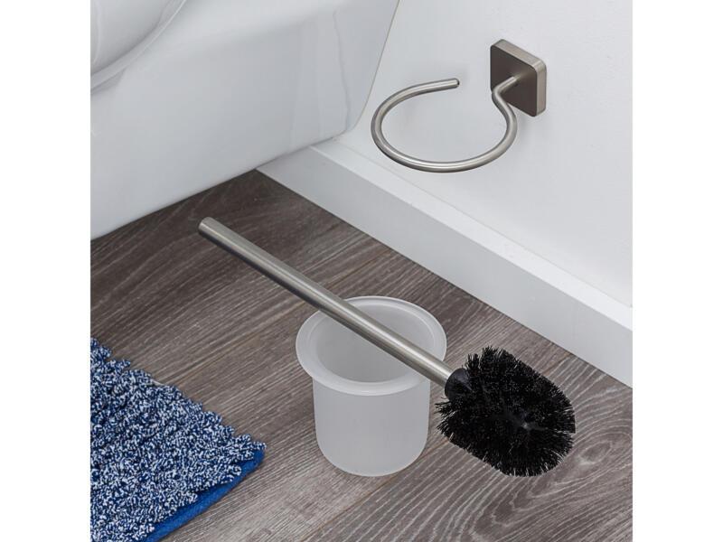 Tiger Onu brosse WC avec support inox brossé