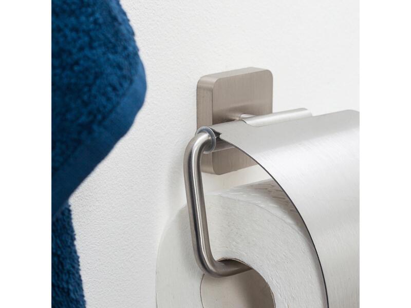 Tiger Onu porte-papier toilette avec clapet inox brossé