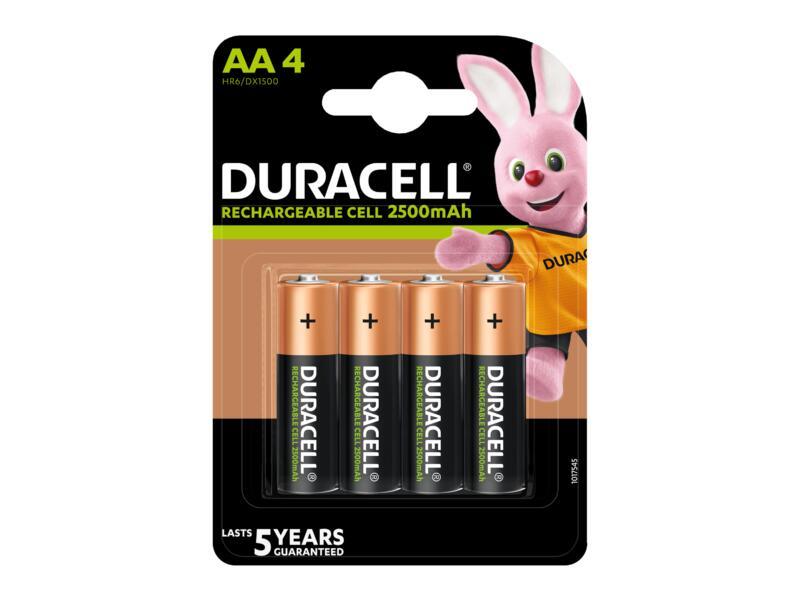 Duracell Oplaadbare batterij NI-MH AA 1300mAh  4 stuks