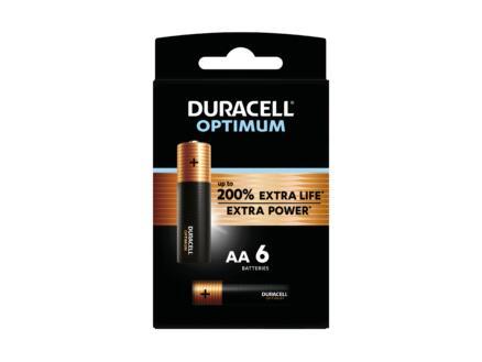 Duracell Optimum batterij alkaline AA 6 stuks