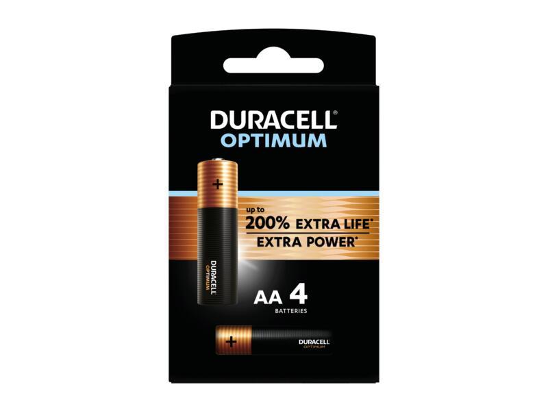 Duracell Optimum pile alcaline AA 4 pièces