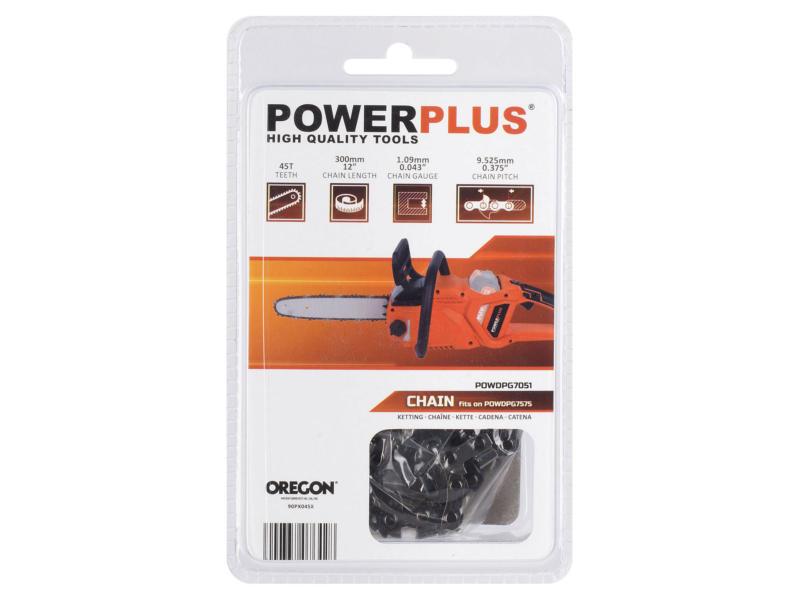 Powerplus Dual Power Oregon chaîne de tronçonneuse 30cm 45 dents pour POWDPG7575