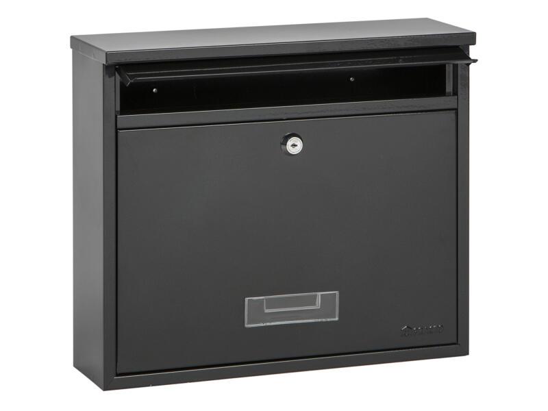 Practo Garden Oxford brievenbus gelakt staal zwart