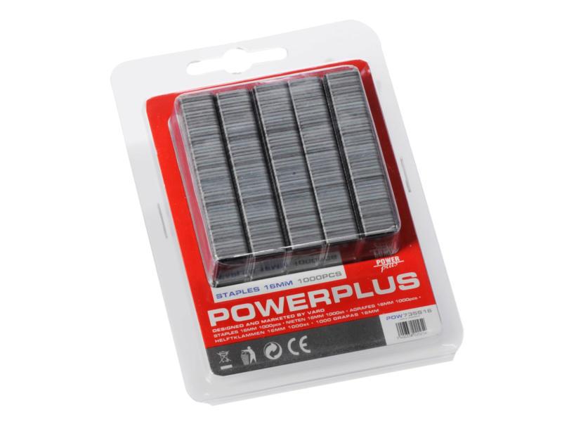 Powerplus POW735/S16 agrafes 16mm 1000 pièces