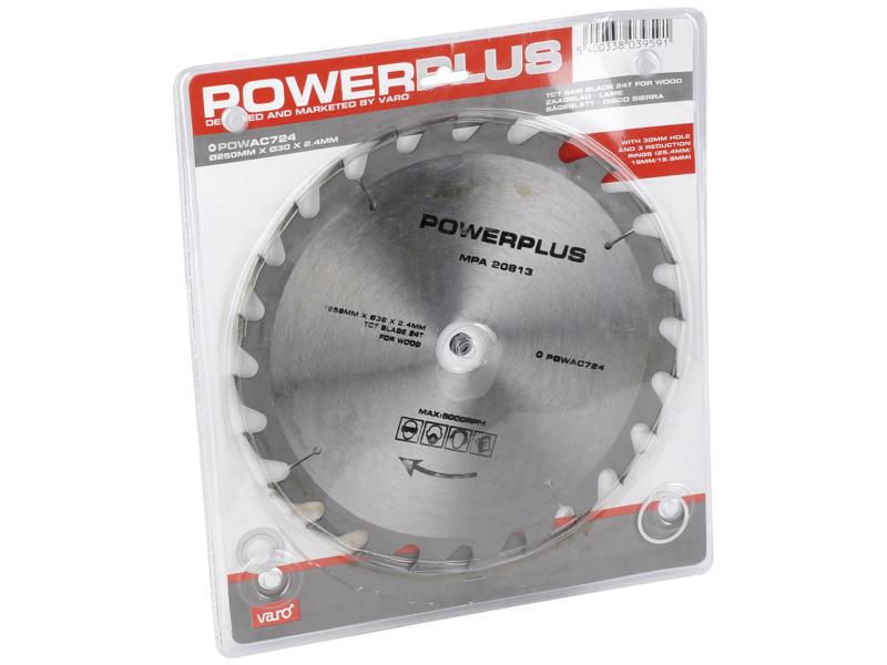Powerplus POWAC724 cirkelzaagblad 250mm 24T