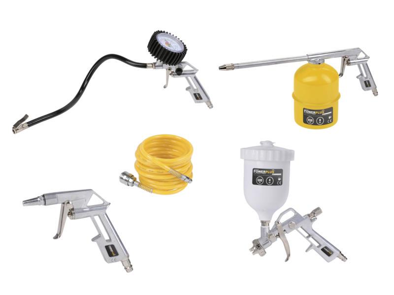 Powerplus Air POWAIR0020 set d'outils pneumatiques 5 pièces