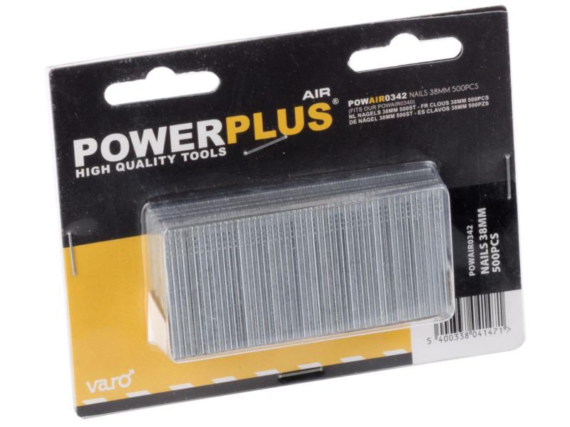 Powerplus Air POWAIR0342 clous 38mm 500 pièces