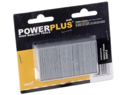Powerplus Air POWAIR0343 nagels 45mm 500 stuks