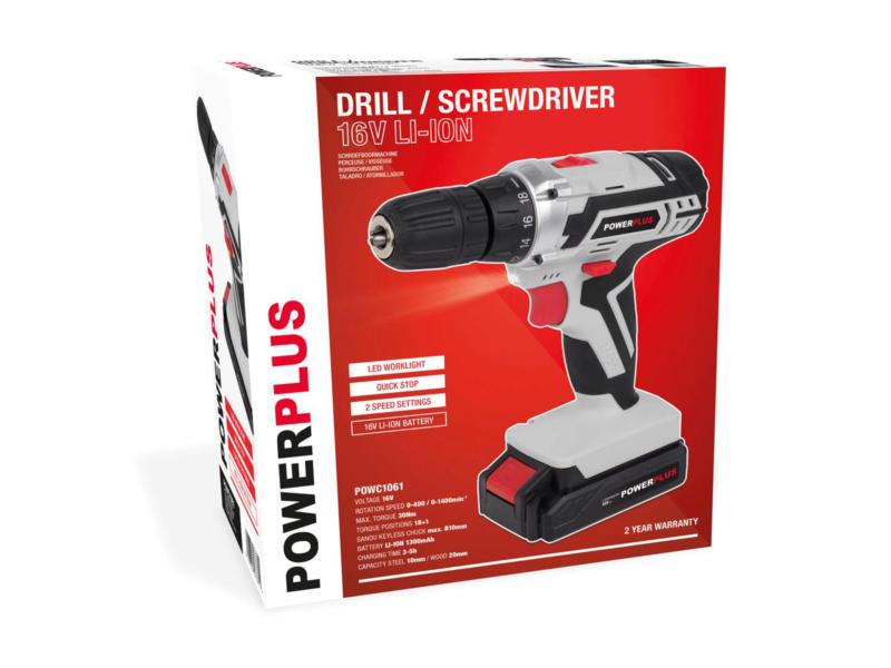Powerplus POWC1061 schroefboormachine 16V Li-ion