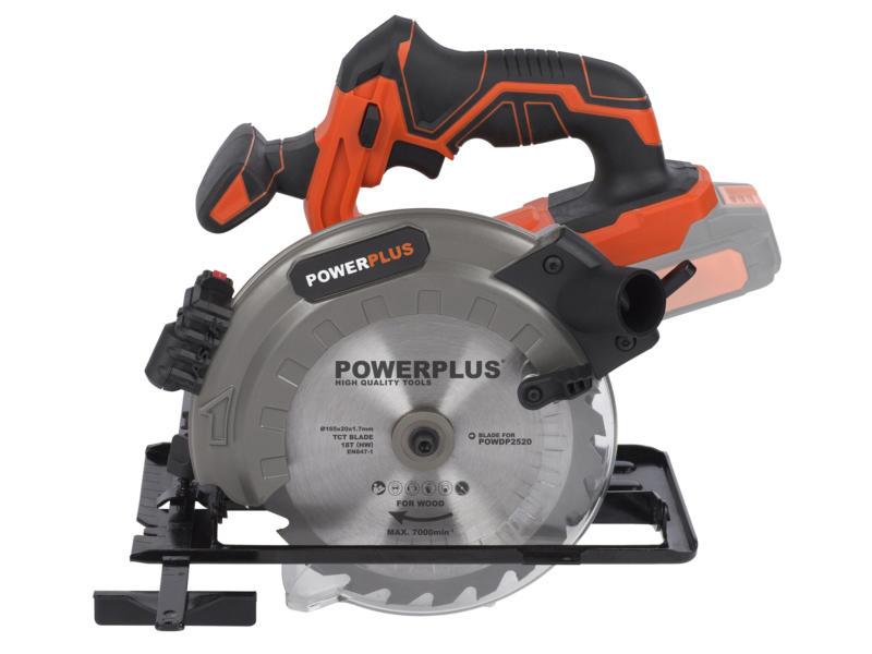 Powerplus Dual Power POWDP2520 scie circulaire 20V Li-Ion 165mm sans batterie