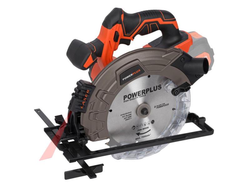 Powerplus Dual Power POWDP2525 accu cirkelzaag 40V Li-Ion 190mm zonder accu