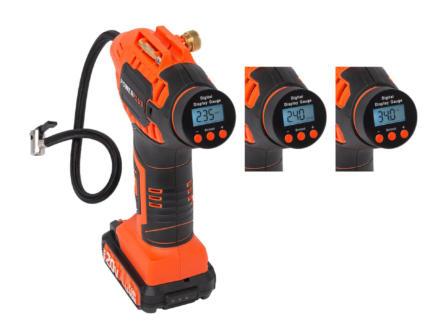Powerplus Dual Power POWDP7020 pompe à air comprimé 20V Li-Ion batterie non comprise