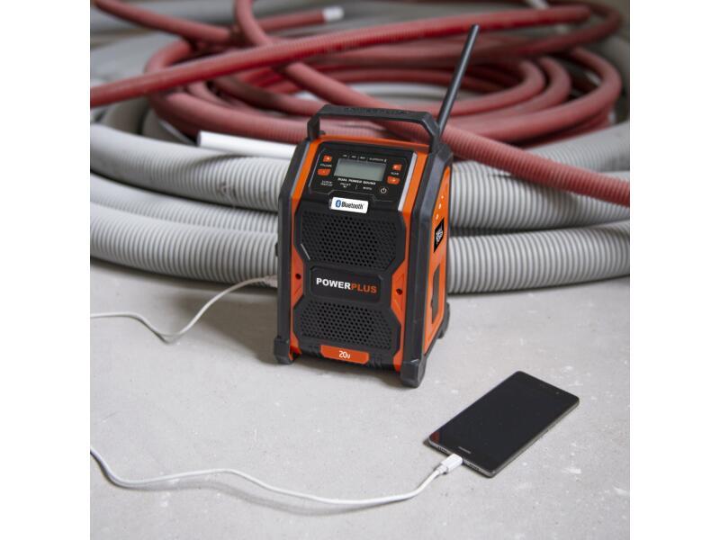 Powerplus Dual Power POWDP8060 accu werfradio 20V zonder accu