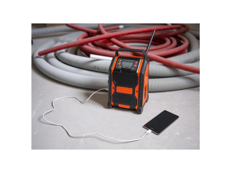 Powerplus Dual Power POWDP8060 radio de chantier sans fil 20V batterie non comprise