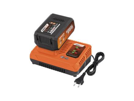 Powerplus Dual Power POWDP9037 accu 2x20 V Li-Ion 5.0/ 2.5Ah